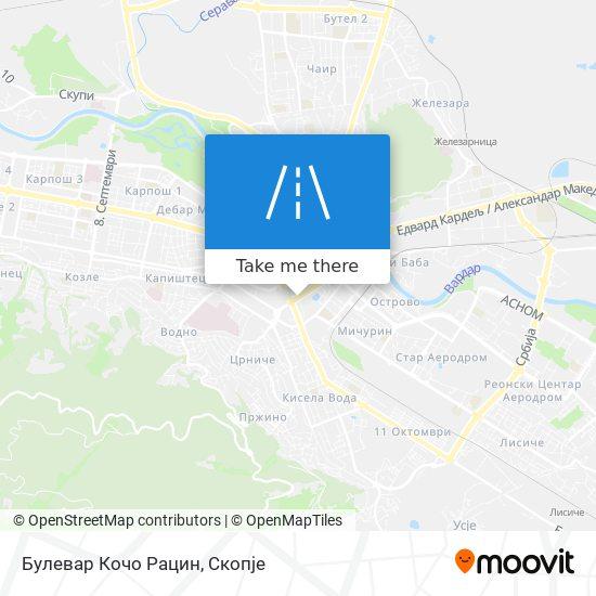 Булевар Кочо Рацин map