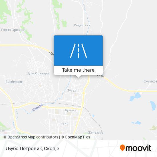 Љубо Петровиќ map