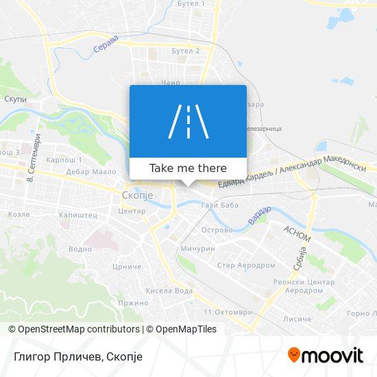 Глигор Прличев map