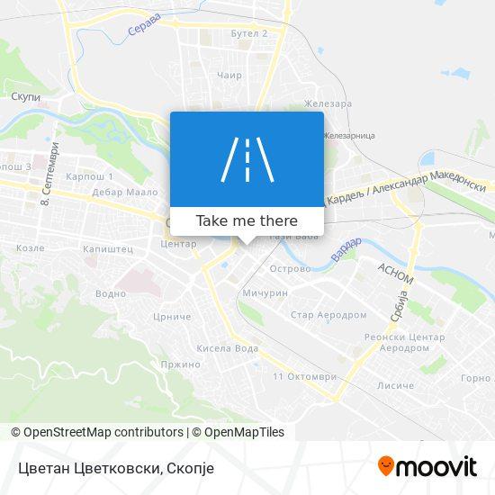 Цветан Цветковски map