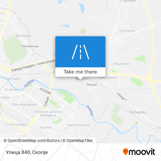 Улица 840 map