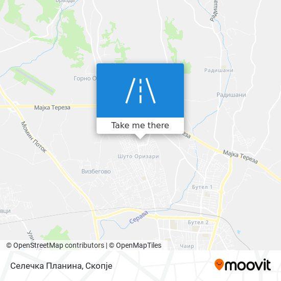 Селечка Планина map