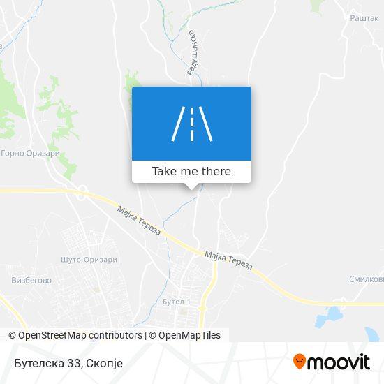 Бутелска 33 map