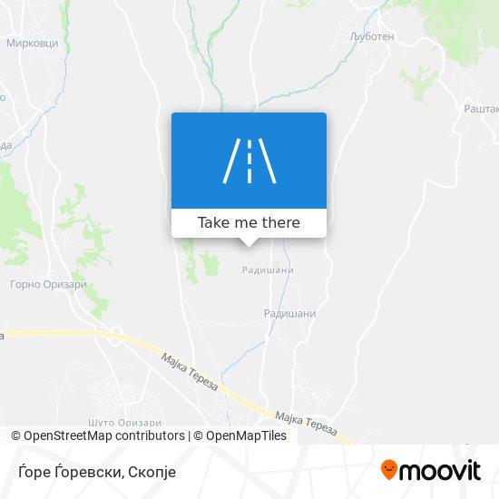 Ѓоре Ѓоревски map