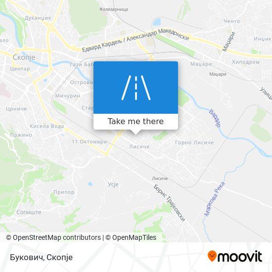 Букович map
