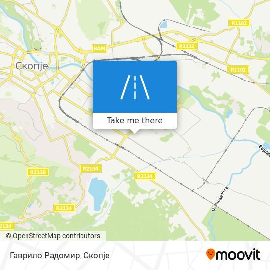 Гаврило Радомир map