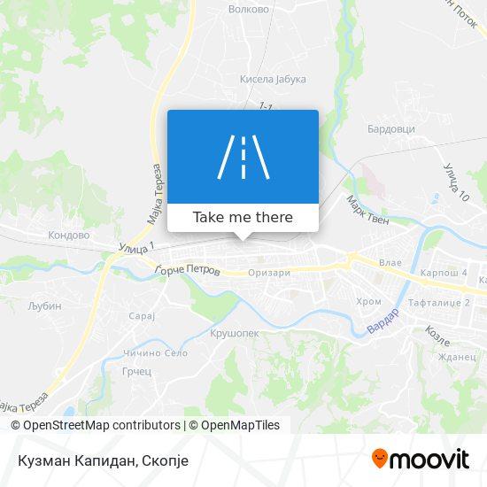Кузман Капидан map