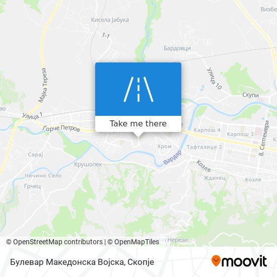 Булевар Македонска Војска map