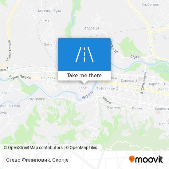 Стево Филиповиќ map