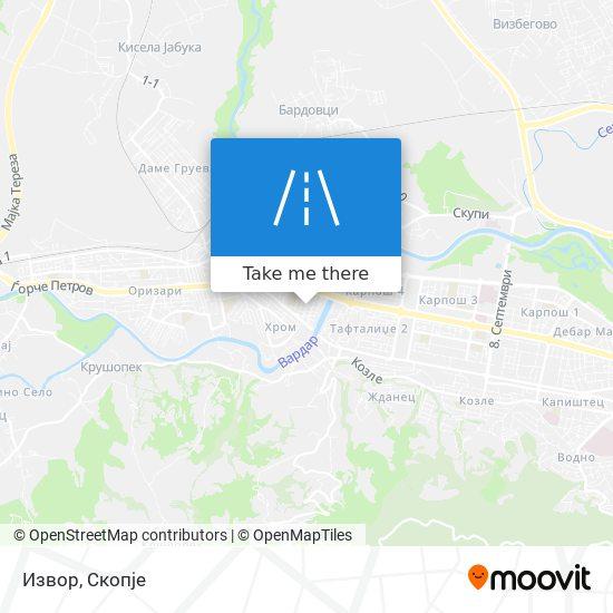 Извор map