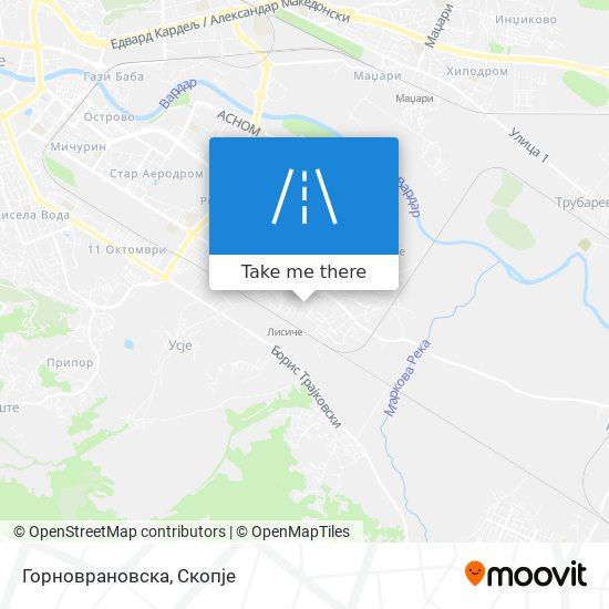 Горноврановска map