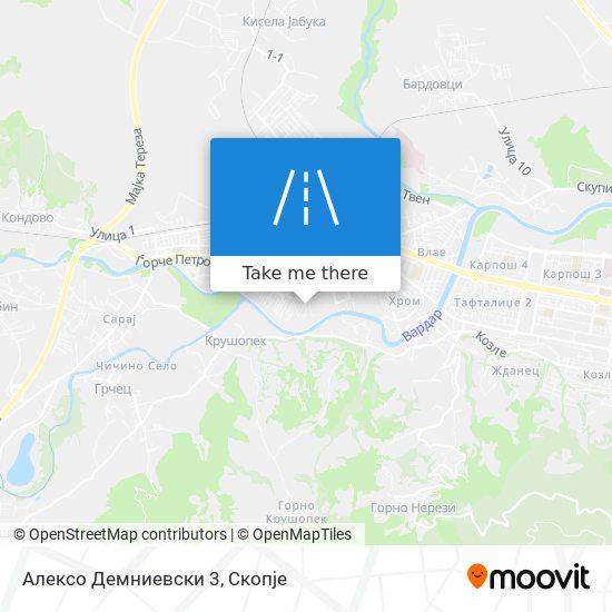 Алексо Демниевски 3 map