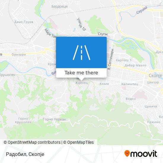 Радобил map