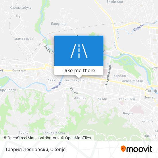Гаврил Лесновски map