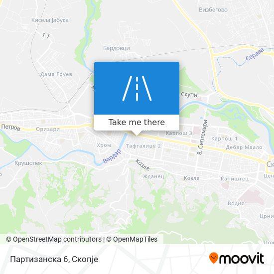 Партизанска 6 map