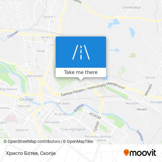 Христо Ботев map