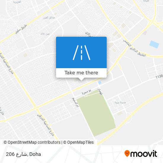 شارع 206 map