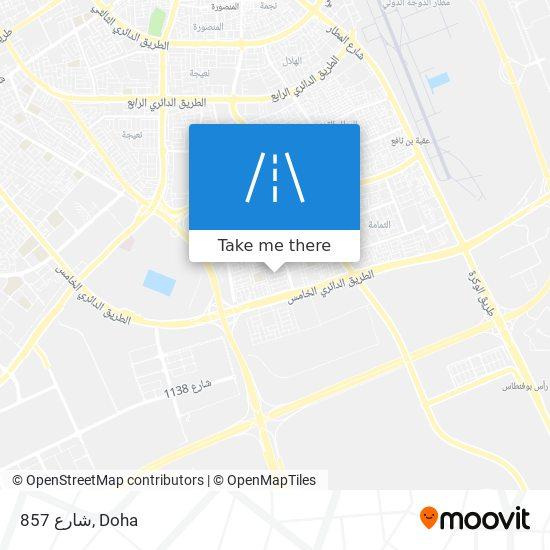شارع 857 map