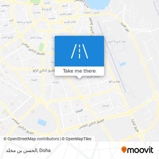 الحسن بن مخلد map