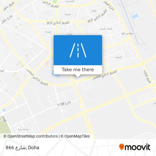 شارع 866 map