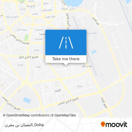 النعمان بن مقرن map