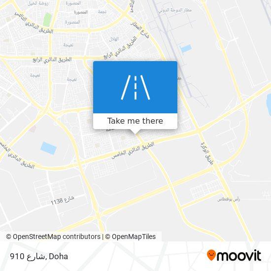 شارع 910 map