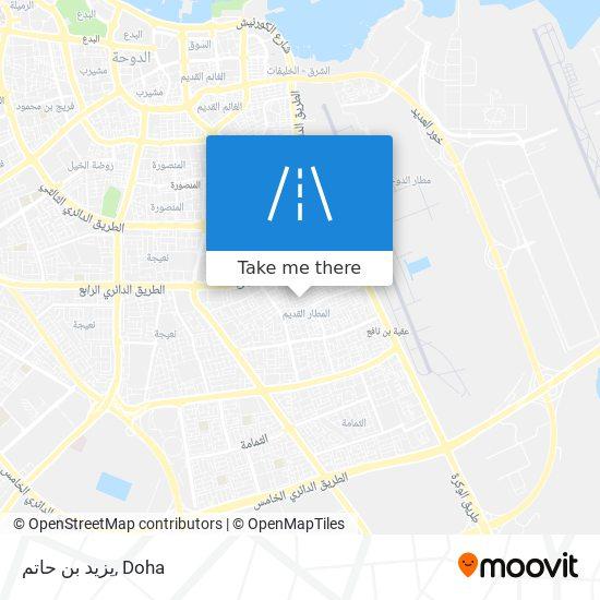 يزيد بن حاتم map