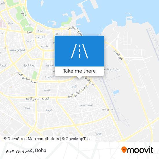 عمرو بن حزم map