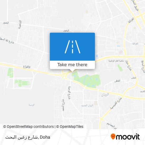شارع زغين البحث map