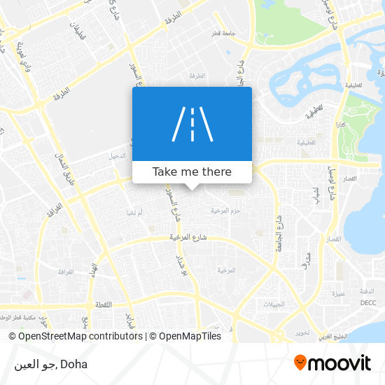 جو العين map