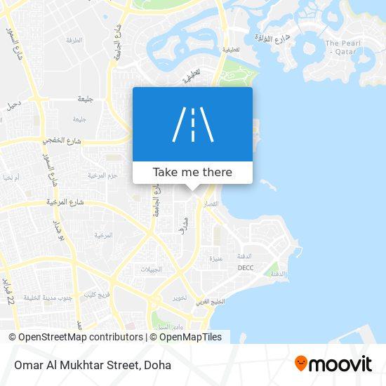 Omar Al Mukhtar Street map