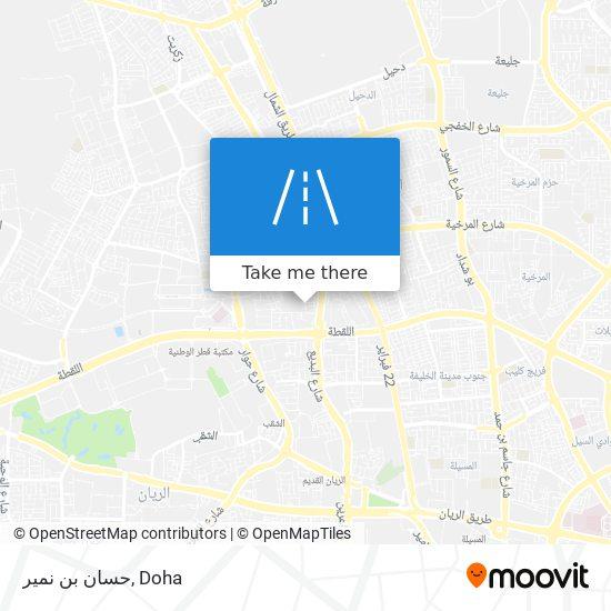 حسان بن نمير map