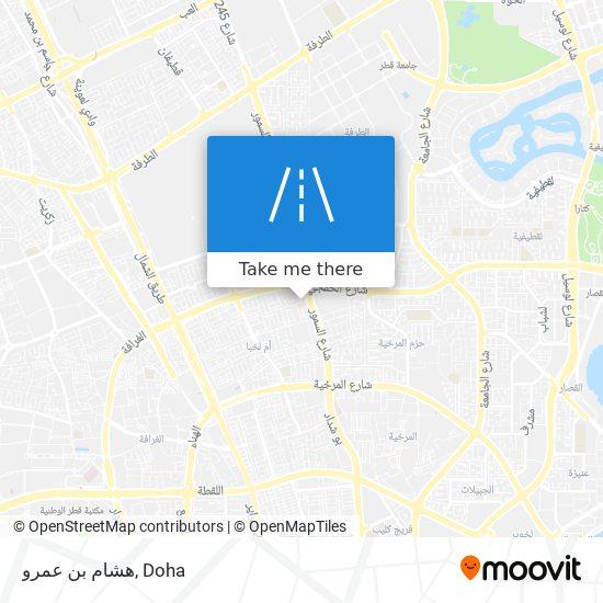 هشام بن عمرو map