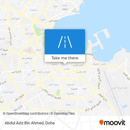 Abdul Aziz Bin Ahmed map