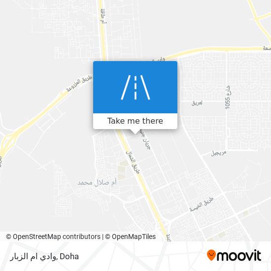 وادي ام الزبار map