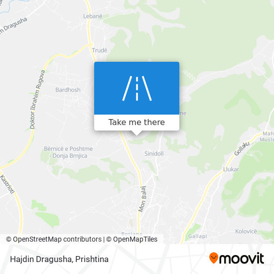 Hajdin Dragusha map