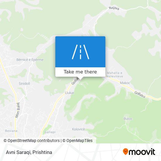 Avni Saraqi map