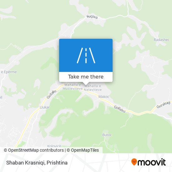Shaban Krasniqi map