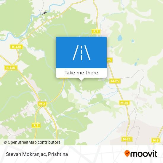Stevan Mokranjac map