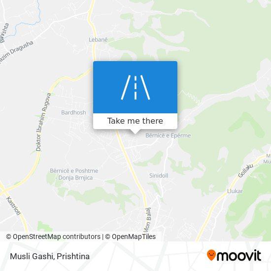 Musli Gashi map