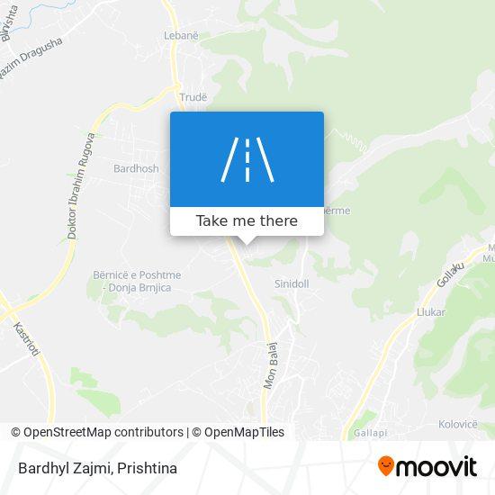 Bardhyl Zajmi map
