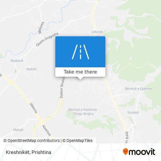 Kreshnikët map
