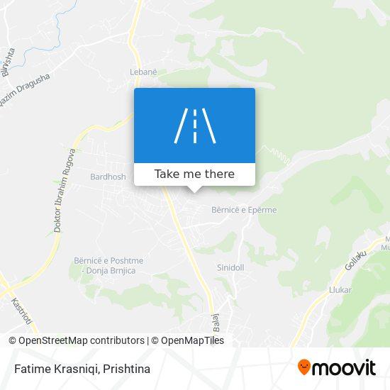 Fatime Krasniqi map