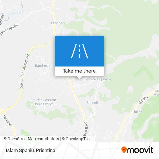 Islam Spahiu map