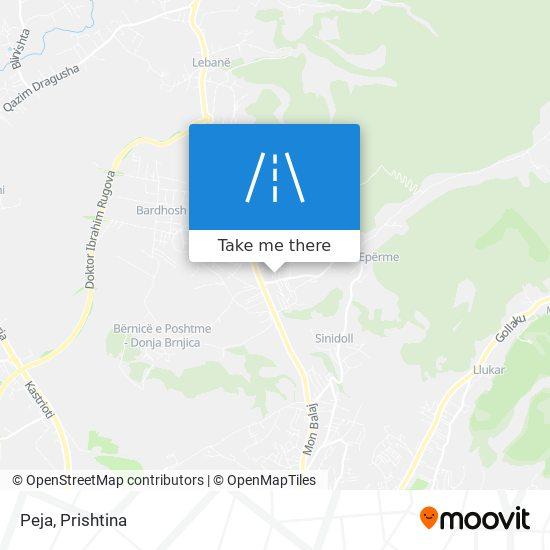 Peja map