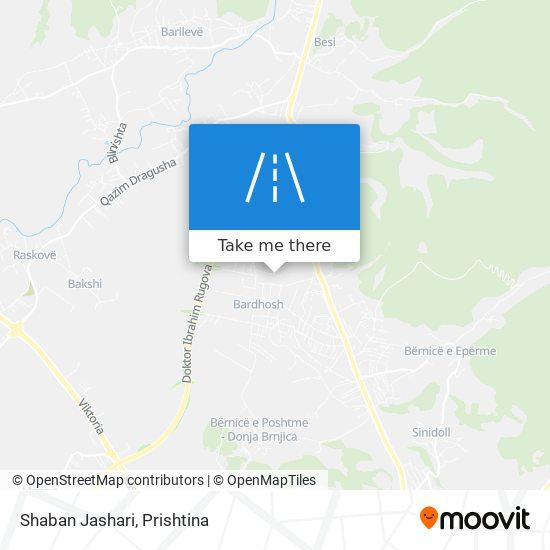 Shaban Jashari map