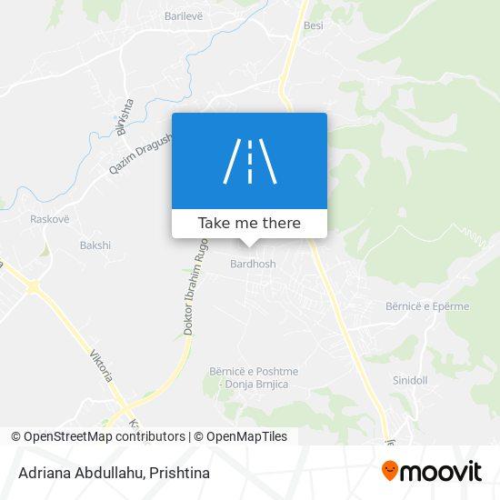 Adriana Abdullahu map