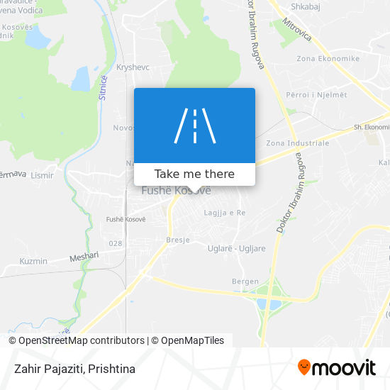 Zahir Pajaziti map