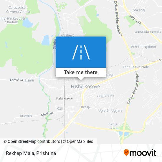 Rexhep Mala map