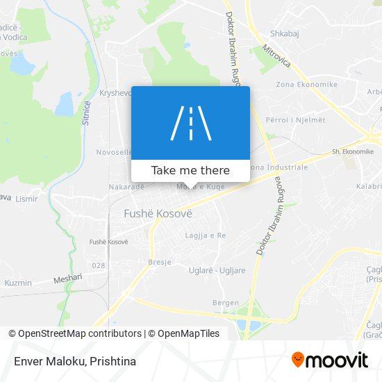 Enver Maloku map